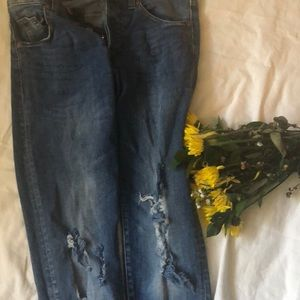 H&M Skinny Rippwd Low Waisted Jeans
